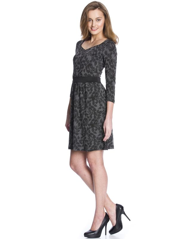 Vive Maria Black Flowers Dress gray allover – Bild 3