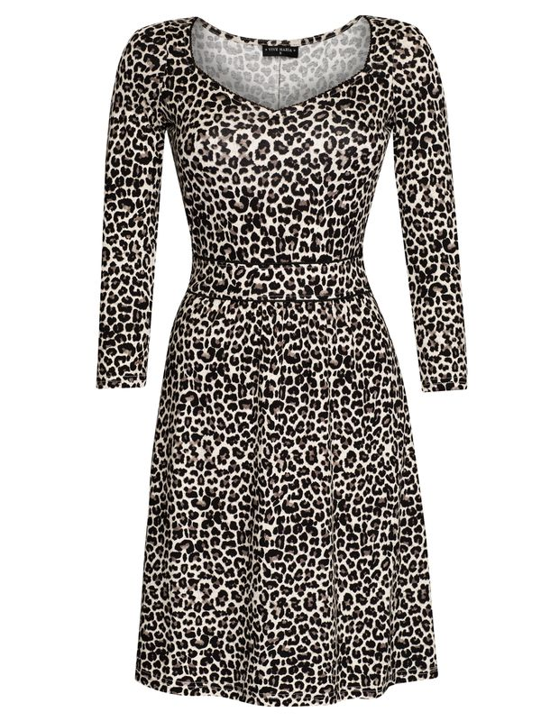 Vive Maria Leo Pin-Up Kleid leopard allover-Druck