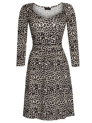 Vive Maria Leo Pin-Up Kleid leopard allover-Druck – Bild 1