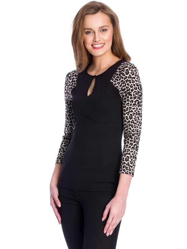 Vive Maria Secret Leo Shirt black/leo allover – Bild 2