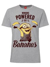 Minions Powered By Bananas T-Shirt female heather grey