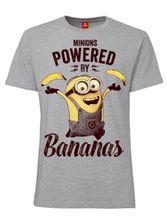 Minions Powered By Bananas T-Shirt female heather grey