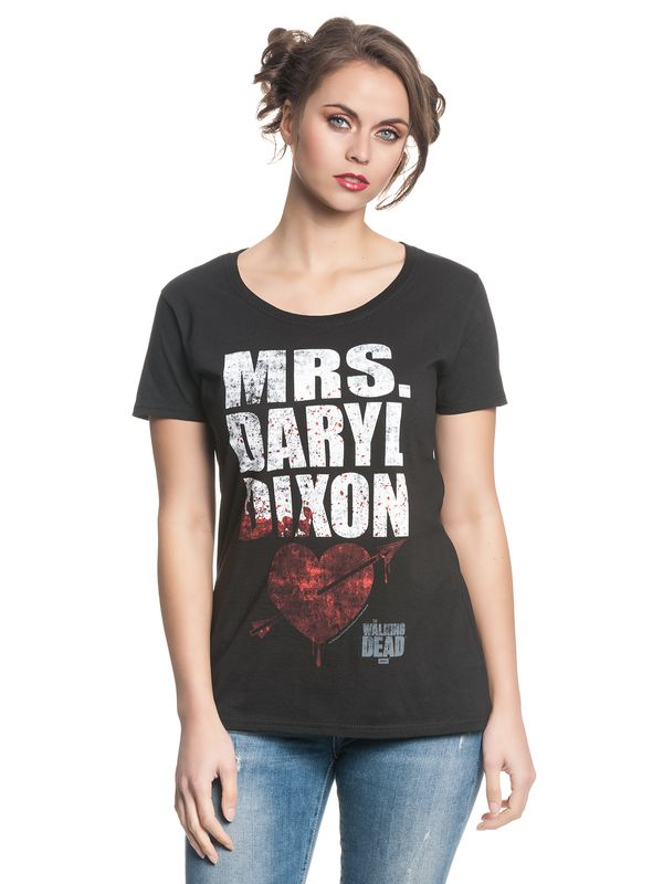 The Walking Dead Mrs. Dixon female Shirt black – Bild 1