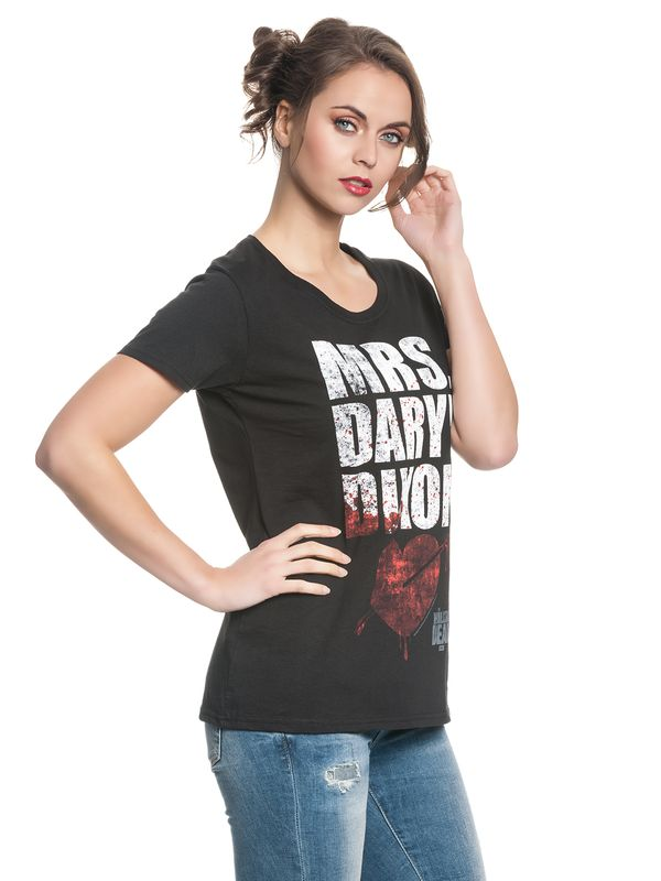 The Walking Dead Mrs. Dixon female Shirt black – Bild 3