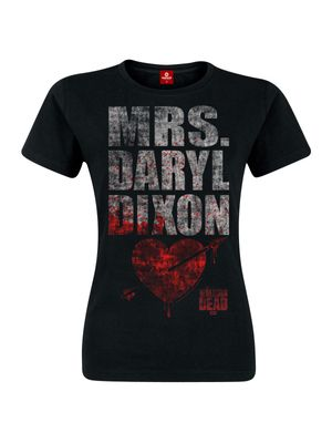 The Walking Dead Mrs. Dixon female Shirt black – Bild 0