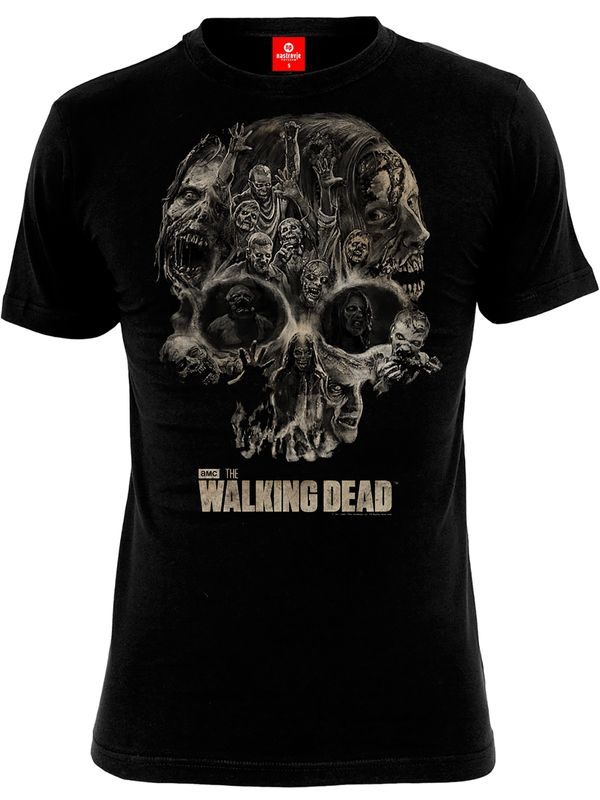 The Walking Dead Skull male Shirt black – Bild 0