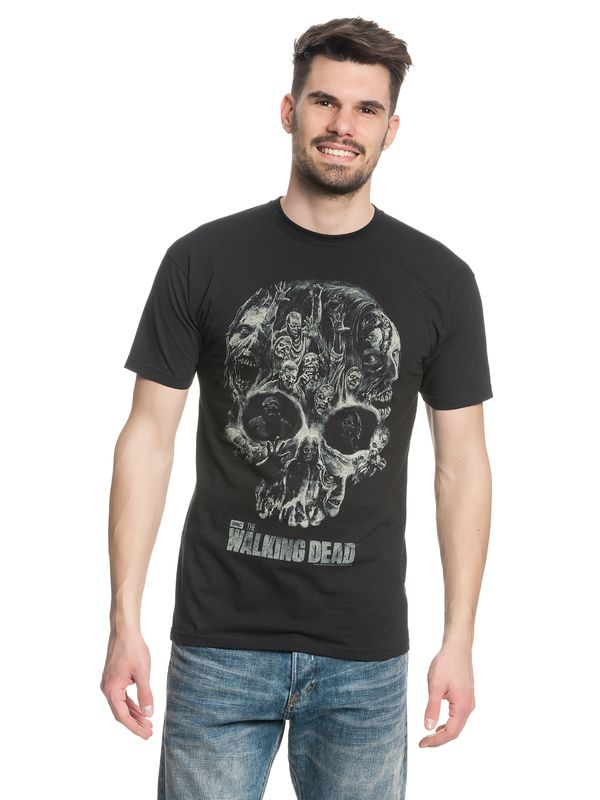 The Walking Dead Skull male Shirt black – Bild 1