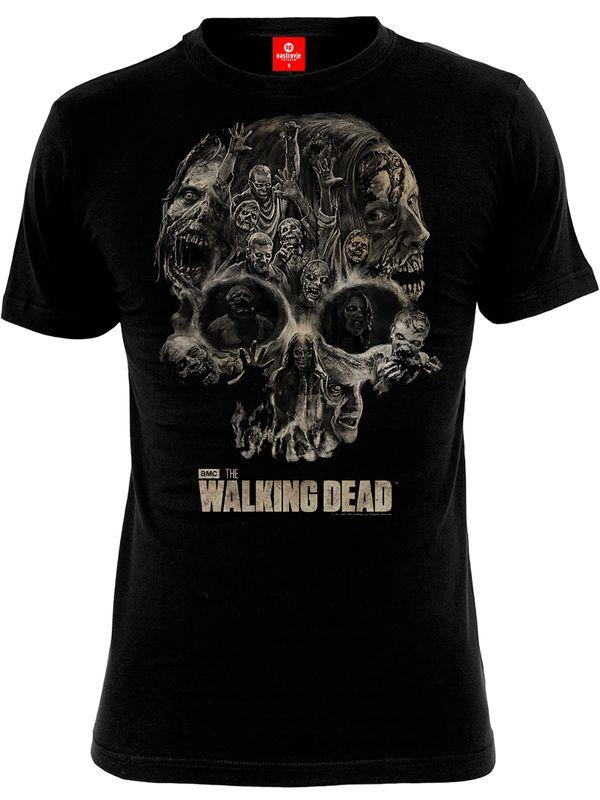 The Walking Dead Skull male Shirt black – Bild 0