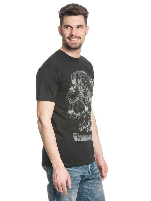 The Walking Dead Skull Männer T-Shirt schwarz – Bild 2