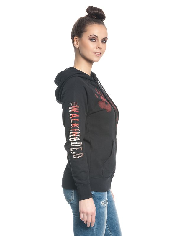 The Walking Dead Kill or Die female zipper hoodie black – Bild 2