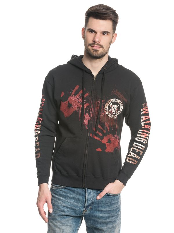 The Walking Dead Kill or Die male zipper hoodie black – Bild 1
