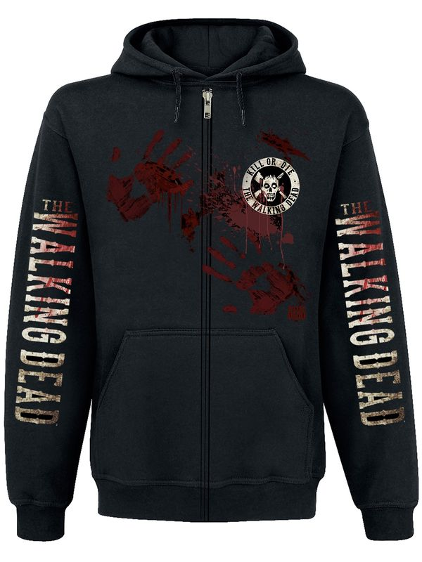The Walking Dead Kill or Die Zipper Hoodie, Herren Kapuzenjacke – Bild 2