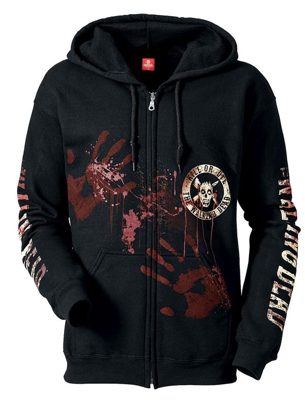 The Walking Dead Kill or Die Zipper Hoodie, Herren Kapuzenjacke Ansicht