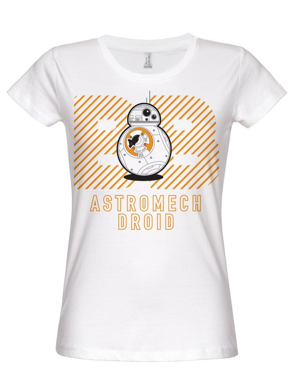 Hybris Star Wars Astromech Droid Girly Tee (White)