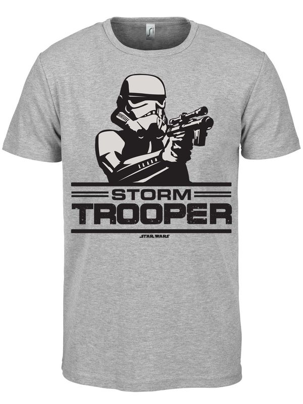 Hybris Star Wars Aiming Stormtrooper T-Shirt (H.Grey)