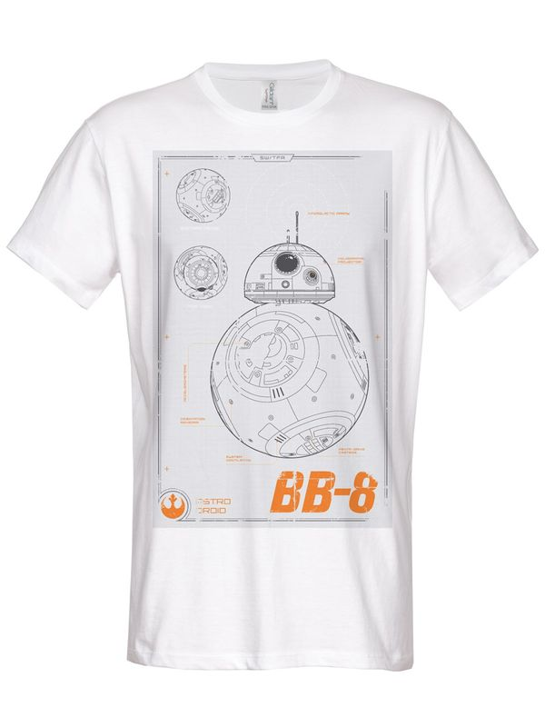 Hybris Star Wars BB-8 Blueprint T-Shirt (White)