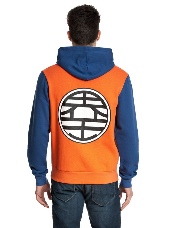Dragon Ball Z Hooded Zip- Jacket male orange/blue – Bild 2