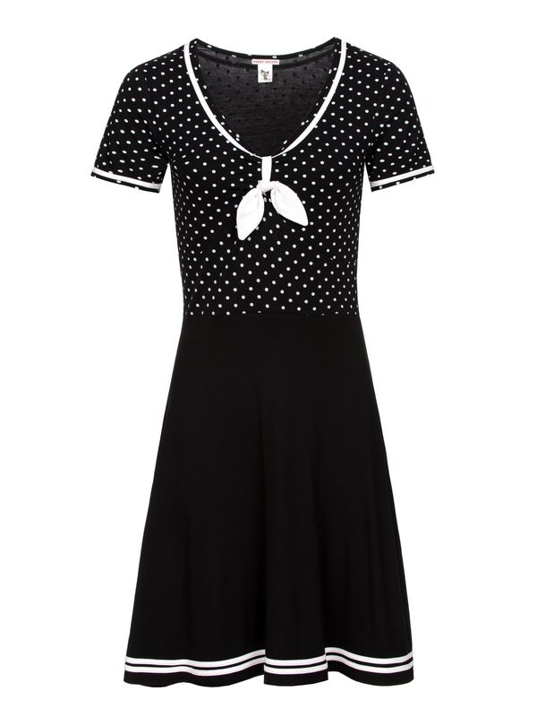Pussy Deluxe Sailor Dotties Dress, Kleid schwarz – Bild 0