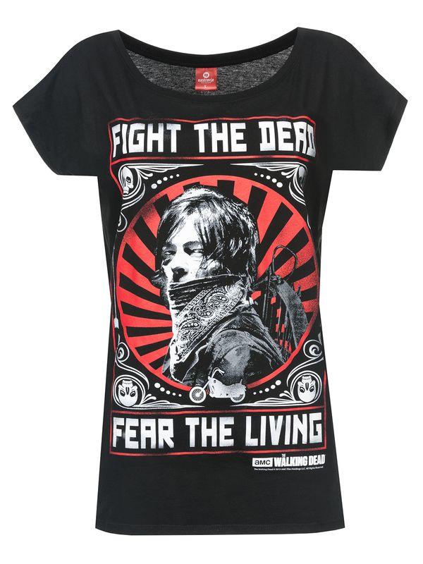 The Walking Dead Daryl Dixon Fight Female T-Shirt black – Bild 0