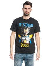 Dragonball Dragon Ball Z It's Over 9000 Male T-Shirt black – Bild 1