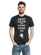 Dragonball Dragon Ball Z Keep Calm And Kamehameha Male T-Shirt black – Bild 1