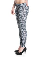 The Nightmare Before Christmas Moonskull Leggings allover-Druck schwarz – Bild 2