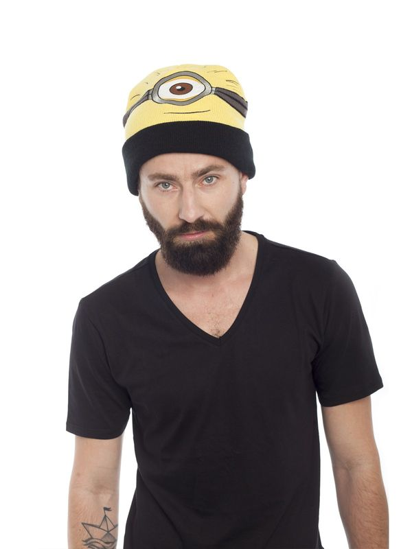 Minions Carl Beanie yellow/black – Bild 3