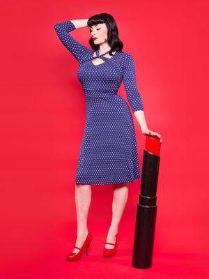 Pussy Deluxe Lovely Marine Knotted Dress Kleid blau – Bild 3