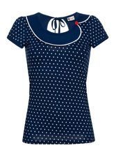 Pussy Deluxe Lovely Marine Dotties Collar Shirt blue – Bild 0