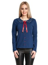 Pussy Deluxe Lovely Marine Sweet Dotties Collar Jacke blau – Bild 2