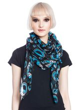 Sesame Street Cookie Monster Sticker Scarf black allover – Bild 1