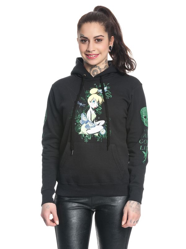 Disney Tinkerbell Its A Fairy Good Life Girl Classic Hoodie black – Bild 2
