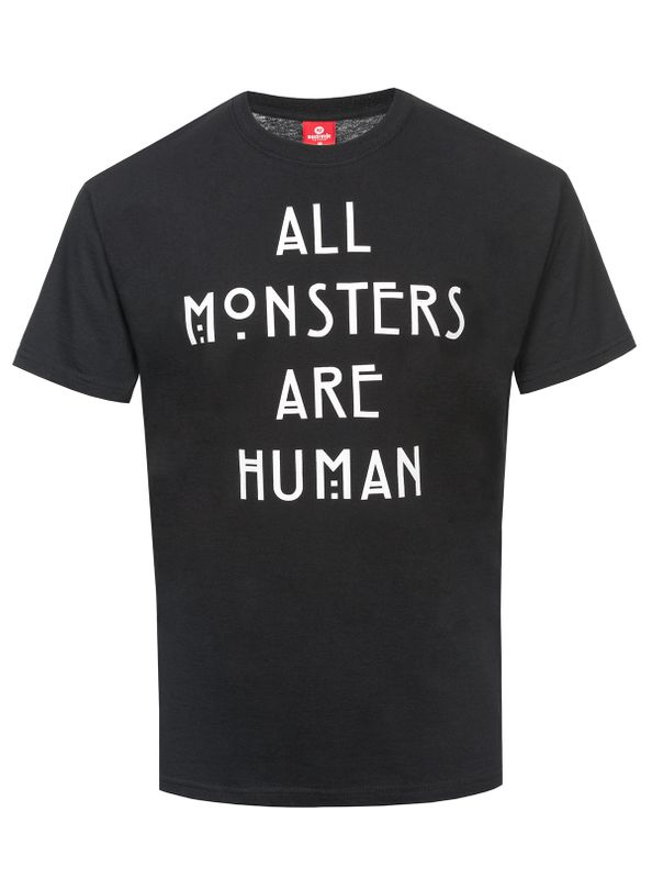 American Horror Story All Monster Are Human T-Shirt black view