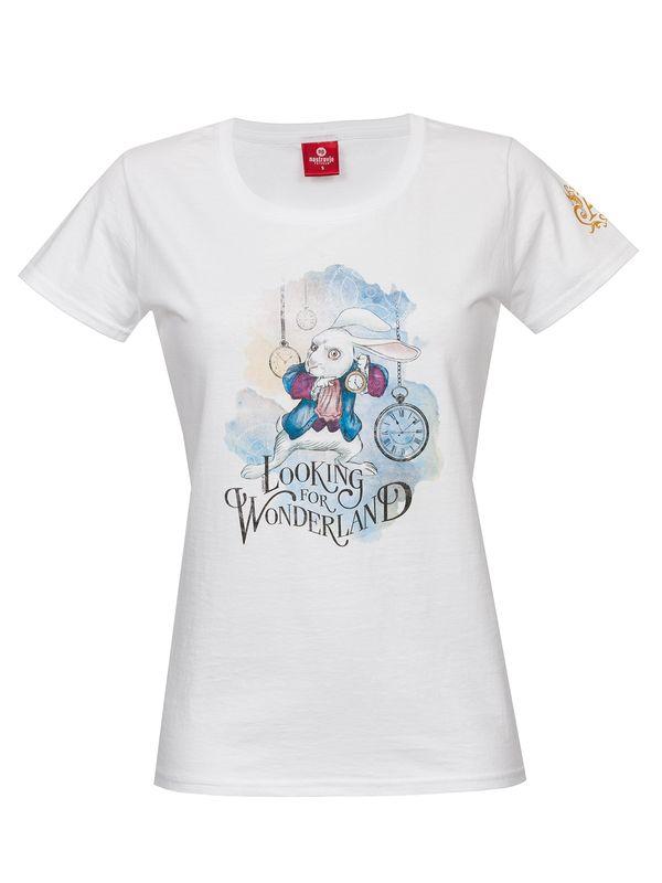 Alice in Wonderland Alice In Wonderland Looking for Wonderland Frauen Shirt weiß – Bild 1