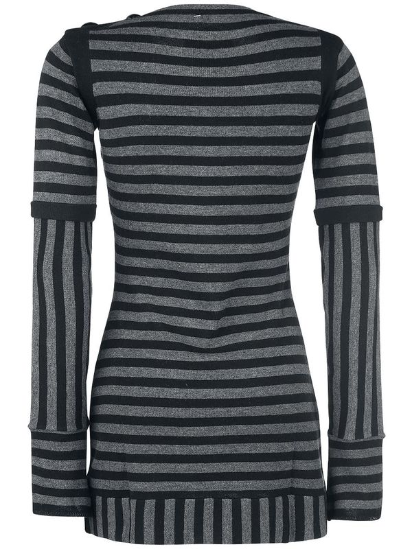 Pussy Deluxe Stripes Knit Dress black/gray – Bild 2