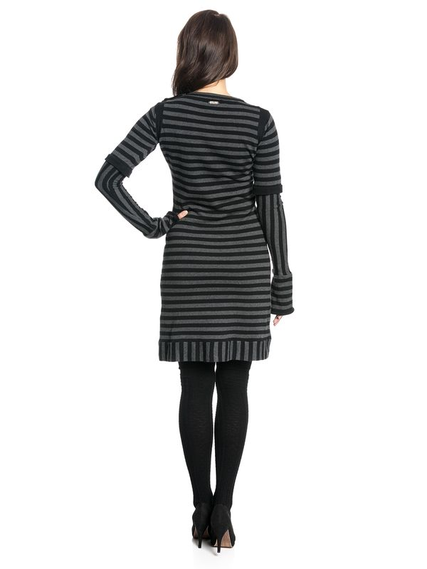 Pussy Deluxe Stripes Knit Dress black/gray – Bild 5