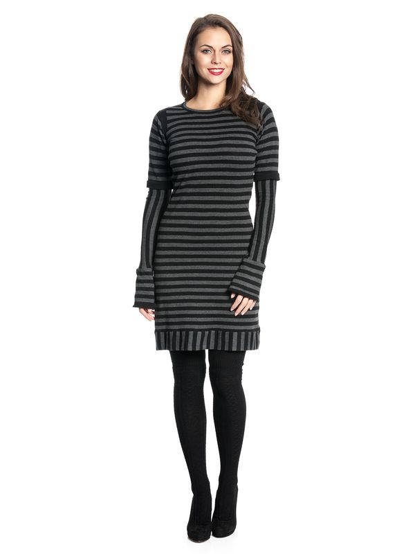 Pussy Deluxe Stripes Knit Dress black/gray – Bild 3