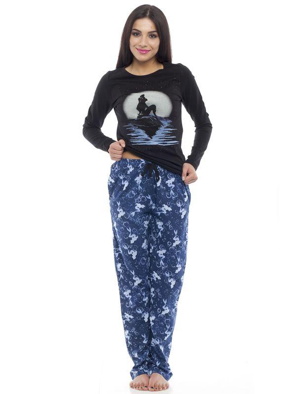 Arielle Sundown Damen Pyjama Schwarz – Bild 1