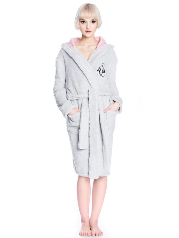 Disney Bambi Thumper Lady Bathrobe grey – Bild 2