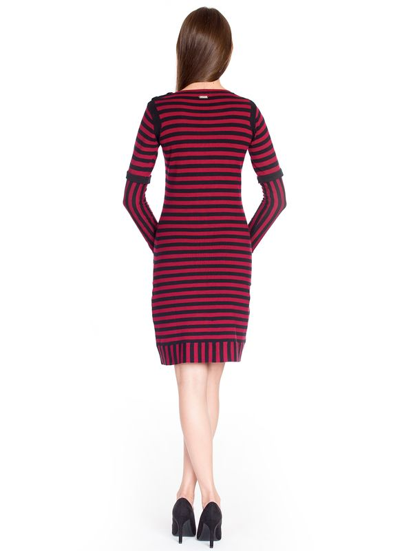 Pussy Deluxe Stripes Knit Dress red/black – Bild 3