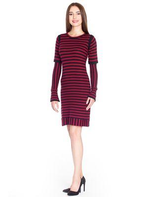 Pussy Deluxe Stripes Knit Kleid rot/schwarz – Bild 2