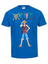 ONE PIECE Luffy Male T-Shirt blue – Bild 0
