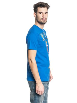 ONE PIECE Luffy Männer T-Shirt blau – Bild 2