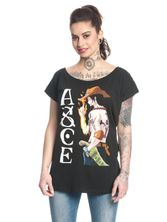 ONE PIECE ACE Girl T-Shirt, Frauen Shirt schwarz – Bild 1