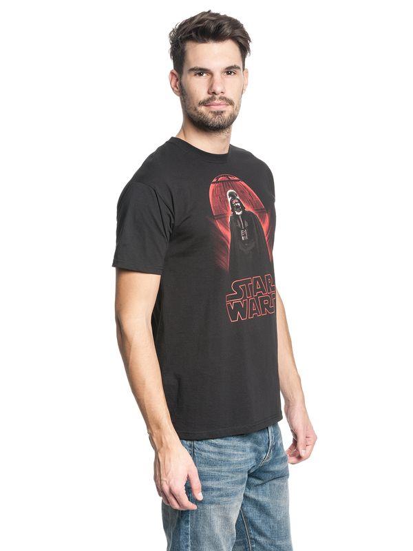Star Wars Darth Vader Death Star Male T-Shirt black – Bild 3