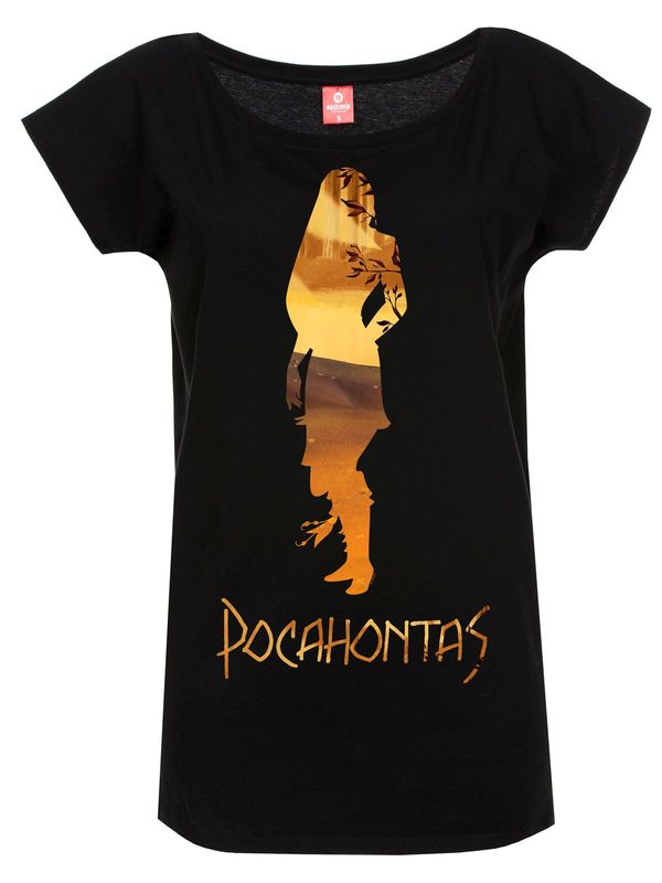 Pocahontas In The Woods Girl Shirt black – Bild 0