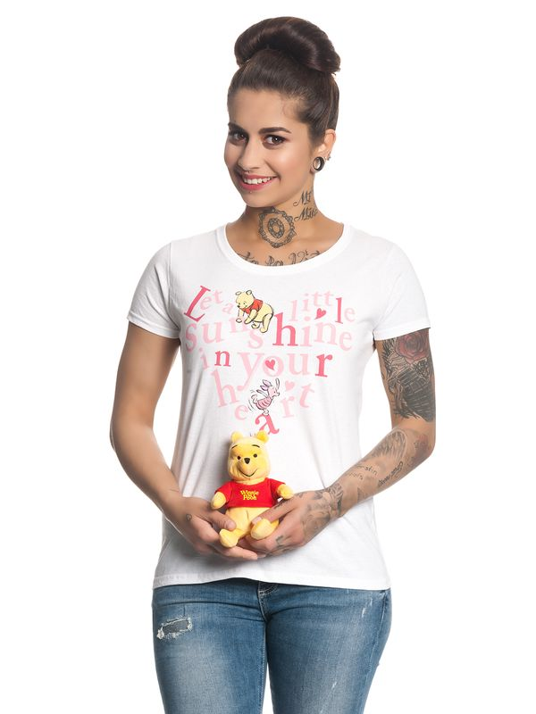 Winnie The Pooh Sunshine In Your Heart Damen T-Shirt Weiß – Bild 1