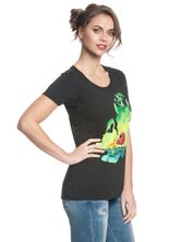 The Lion King Green Jungle Damen T-Shirt Schwarz – Bild 1