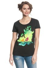 The Lion King Green Jungle Damen T-Shirt Schwarz – Bild 0