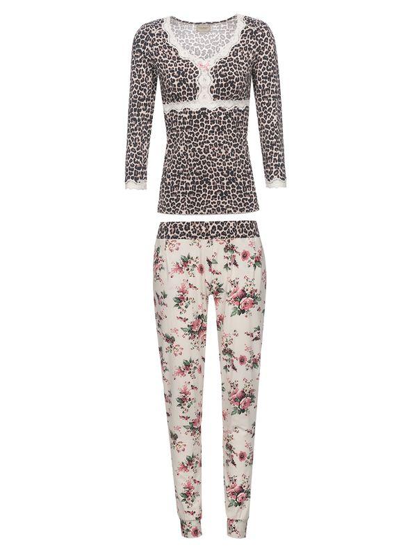 Vive Maria Wild Romance Pyjama leo/creme allover – Bild 0